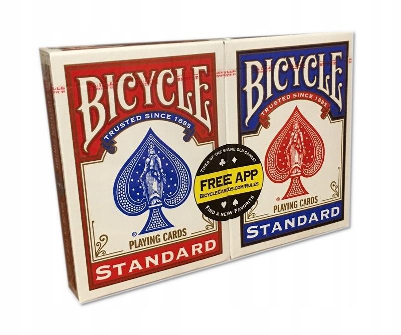2 X KARTY TALIE DO GRY POKER BICYCLE STANDARD WAWA