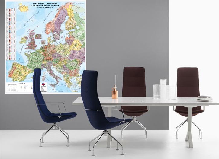 С подсветкой Карта Европы, несмотря на высокий-дорожная *