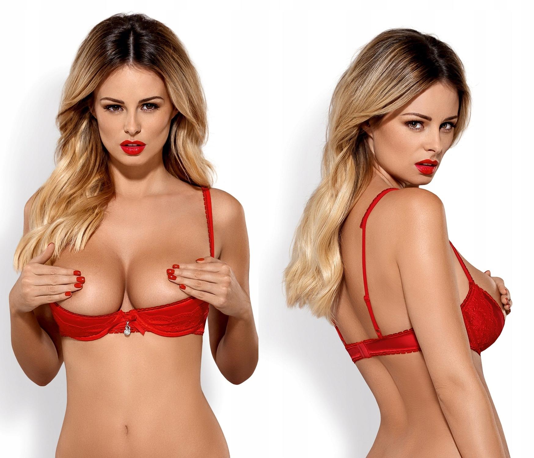 Obsessive Lovica Bra półbiustonosz *L/XL* red