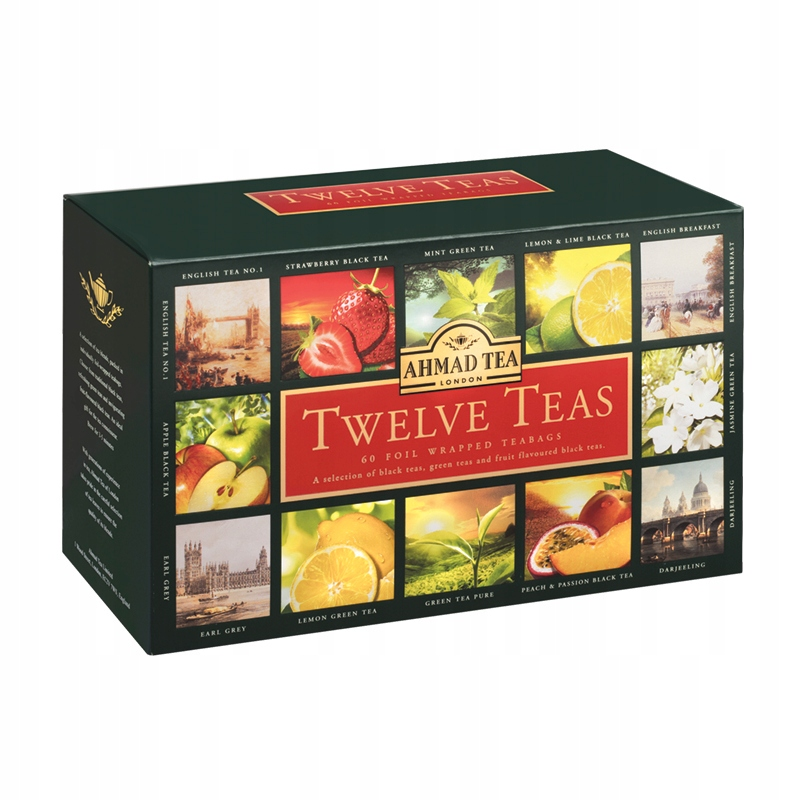 Ahmad Tea TWELVE TEAS комплект 12 вкус во 5 штук