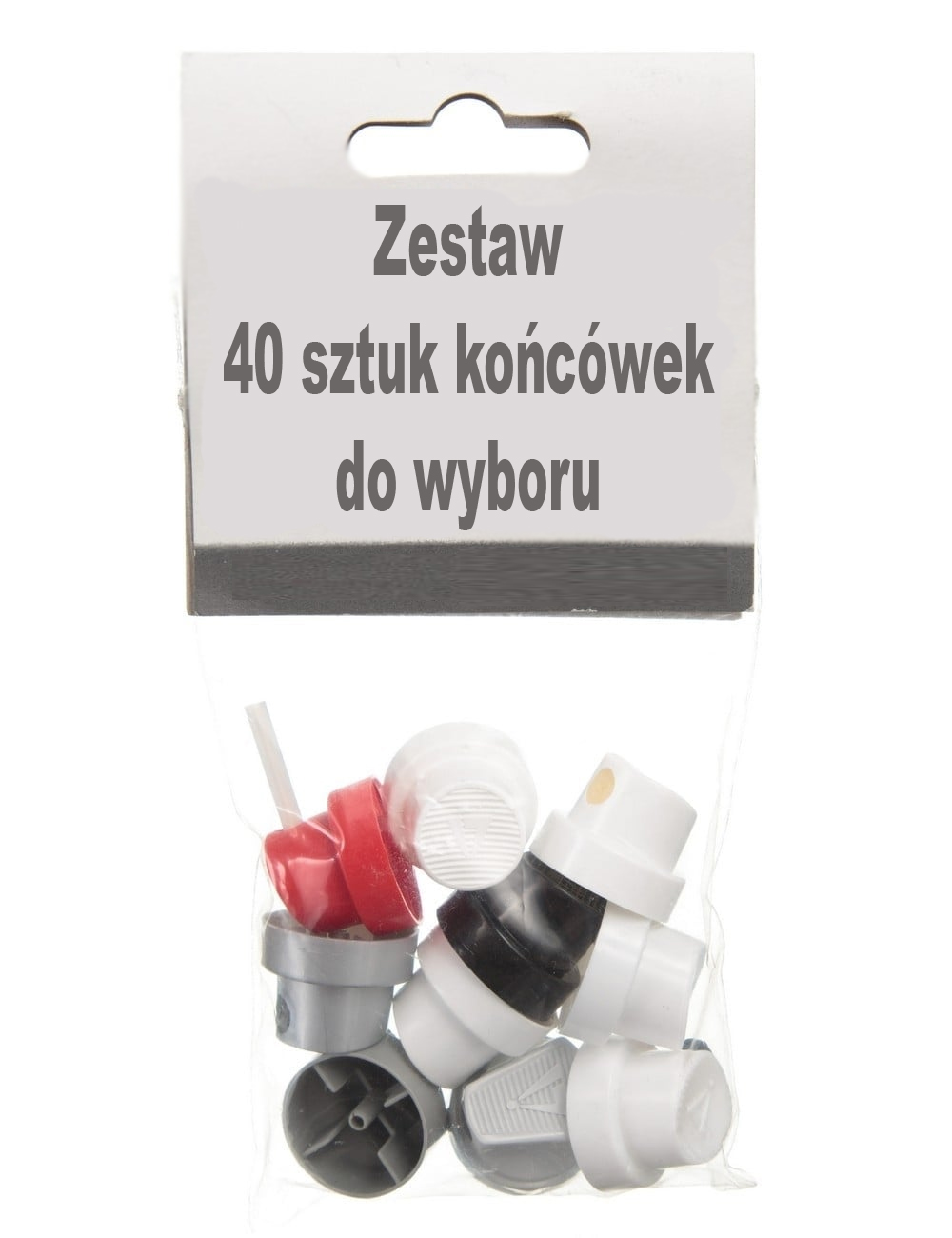 Sada 40 trysiek s tryskami graffiti Molotow
