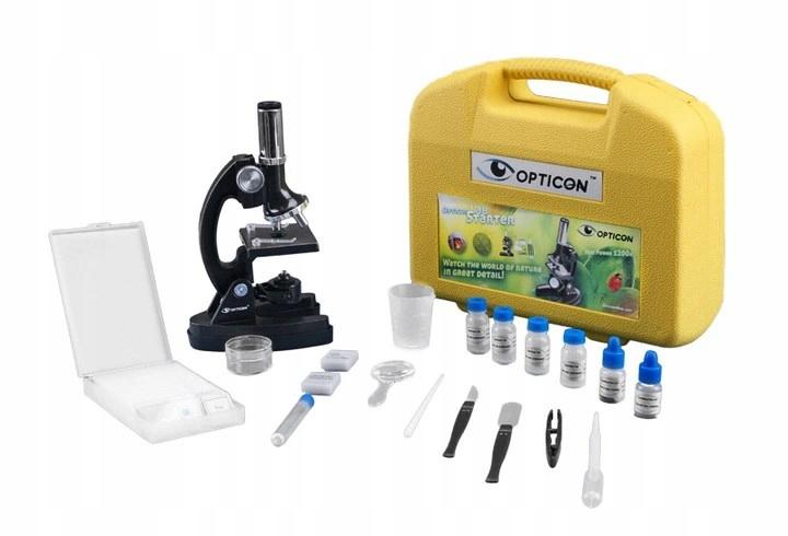Štartovací mikroskop Opticon Lab, kovový statív + DVD