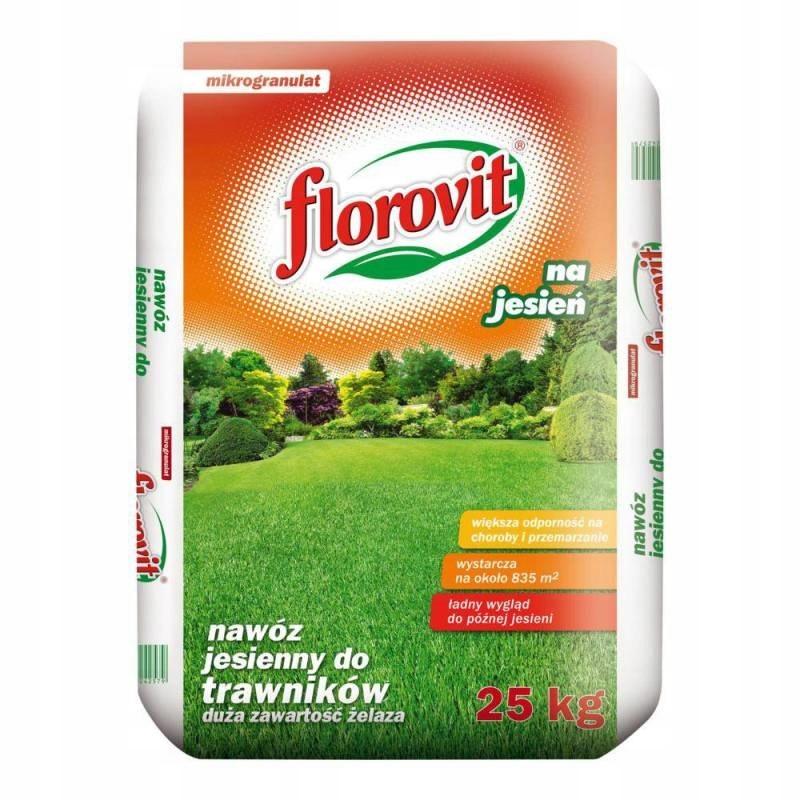 FLOROVIT trávnik jeseň hnojivo na trávu BYLÍN 25 KG
