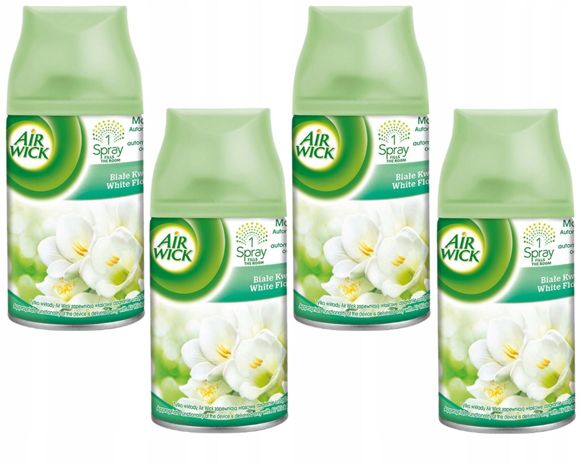 Air Wick Freshmatic Białe Kwiaty 4 x 250ml Wkład