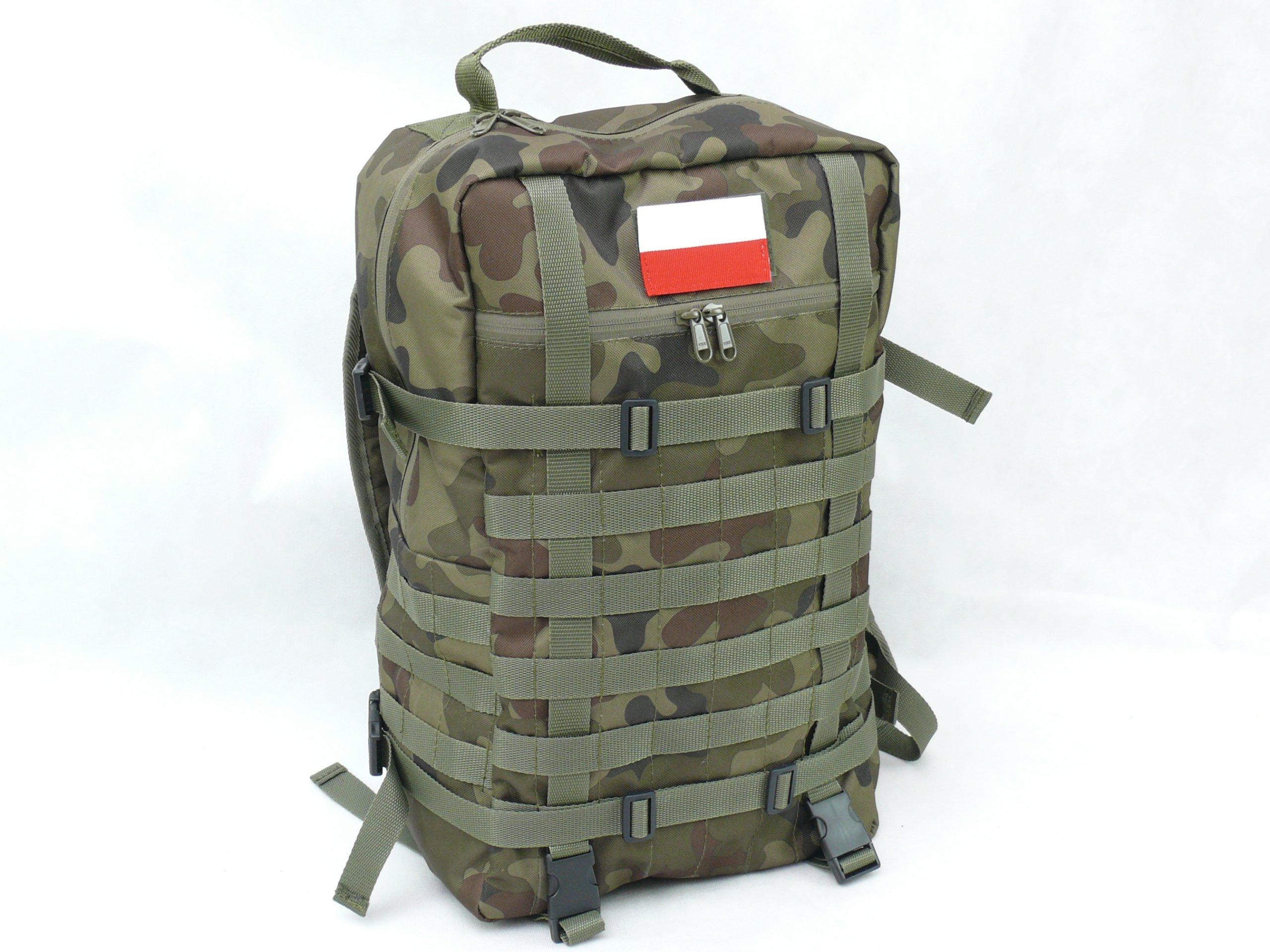 POĽSKÝ Vojenský Batoh Taktické Farby WZ93 +GRAT