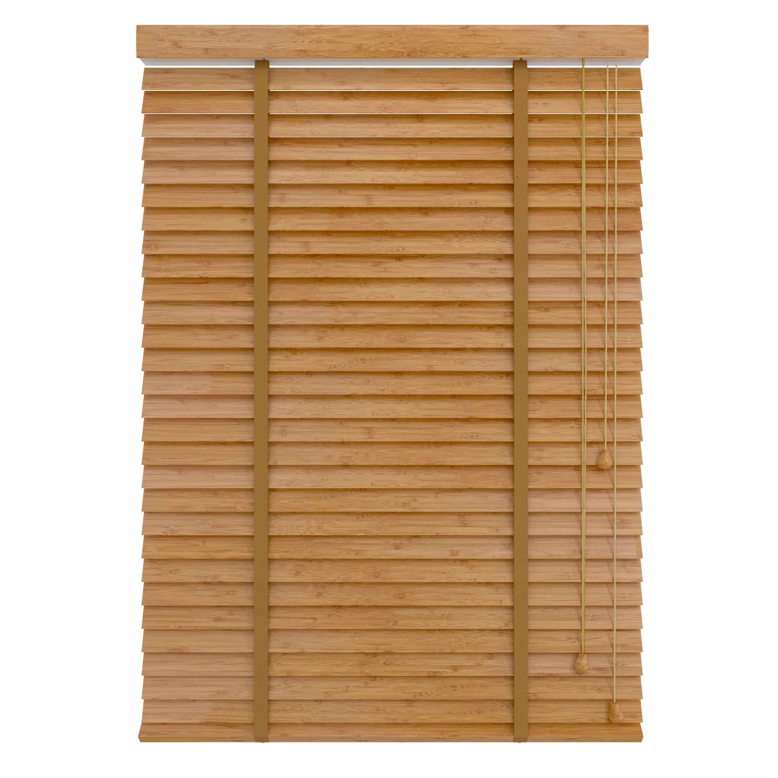 Żaluzja Bambusowa rolety drewniane 50 mm naturalny