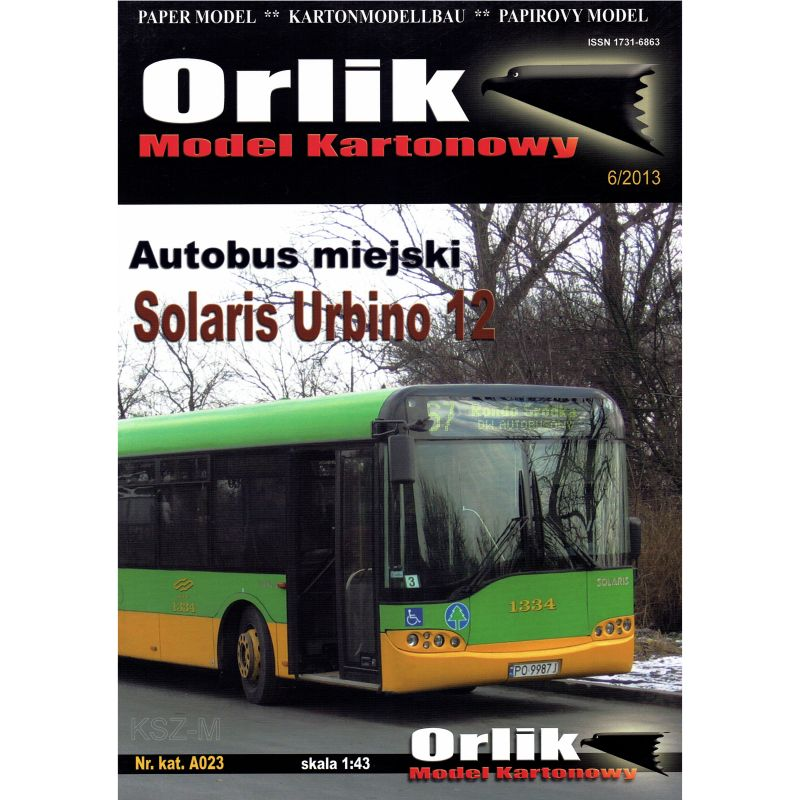 Orlik A023 - Autobus Solaris Urbino 12 1:43