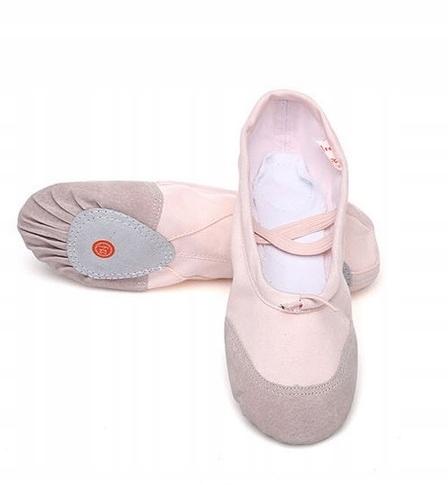 Baletki Balerinki do Tańca Balet Kolory r 25 Róż