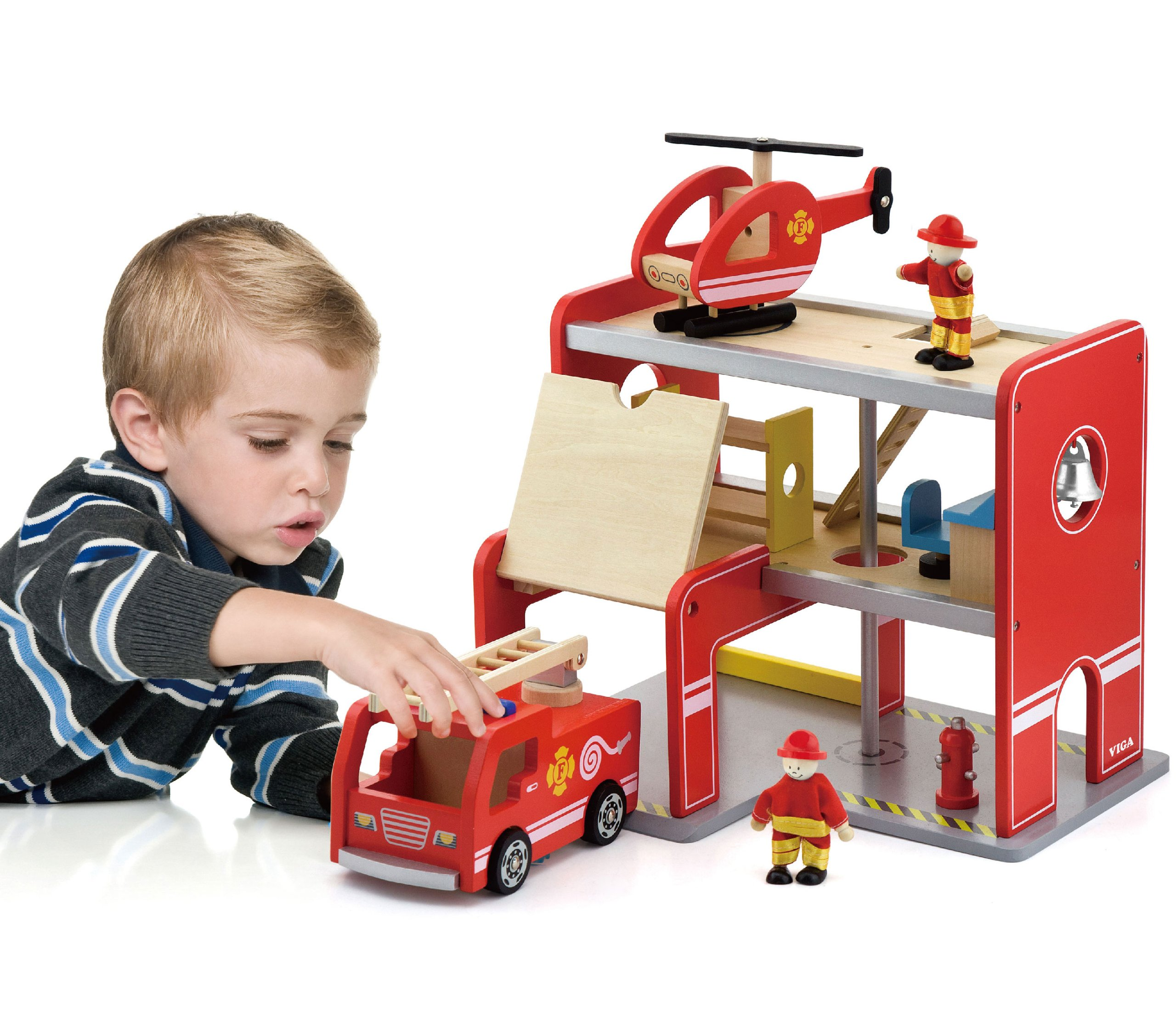 VIGA Drevené Požiarne stanice, 3 Úrovniach + Stroj