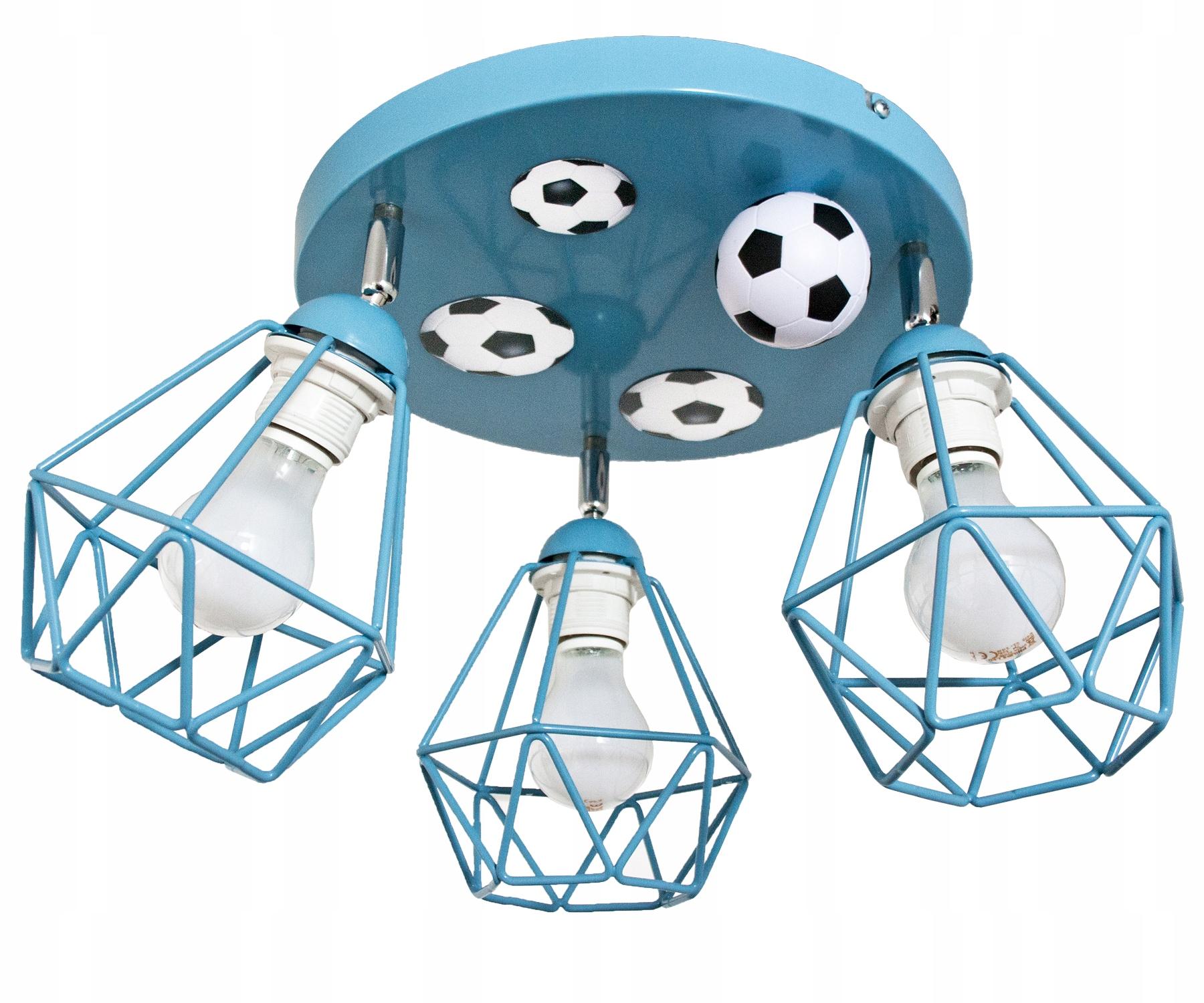CIEKAWA Lampa sufitowa MUNDIAL 3 DIAMOND NIEBIESKI