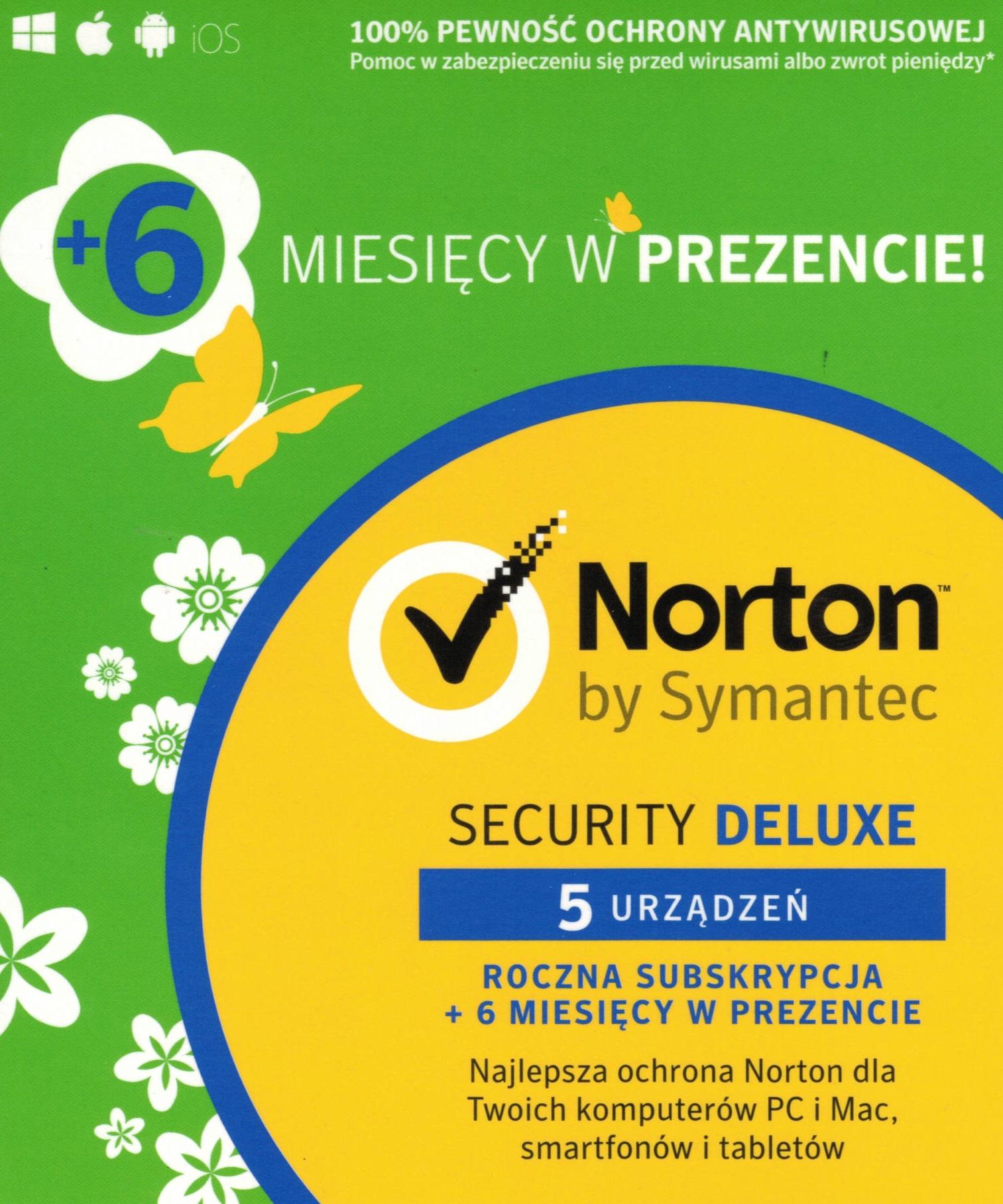 Item Norton Internet Security Deluxe 5 PC / 18 Months