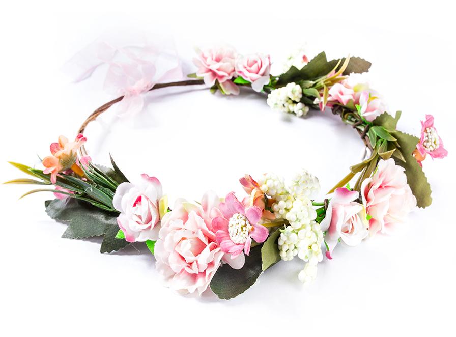 Item Wreath hair FLOWERS boho ROSE, peony, ... read more
