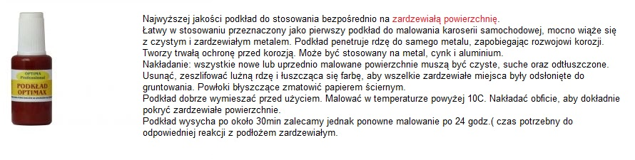 LAKIER ZAPRAWKA NA RDZĘ 25ML+PATYCZEK MEGA ZESTAW Marka Inny
