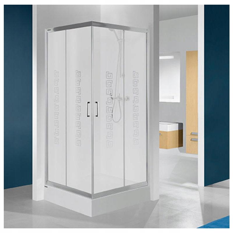 uhlové sprchu skrine 90 x 90 - sklo 4 mm