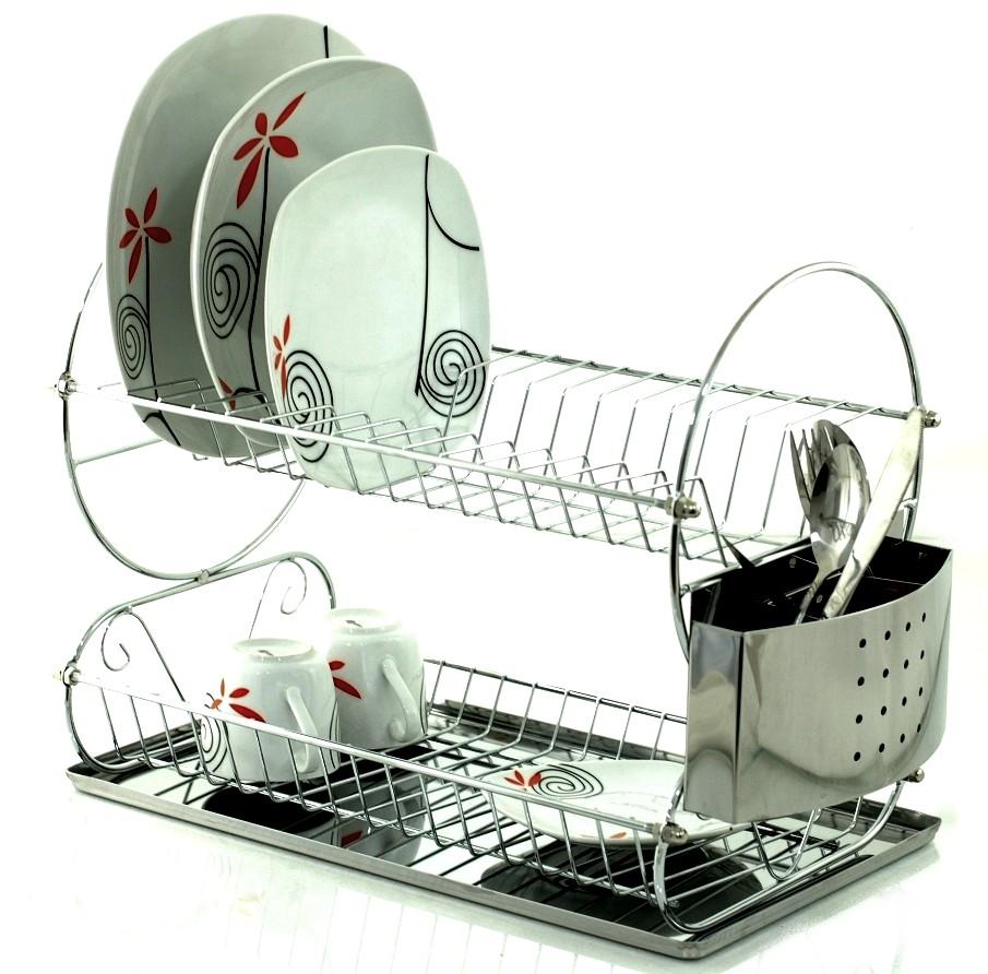СУШИЛКА Посуды 2 Уровневая Сушка столовые Приборы 82