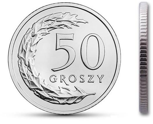 50 gr groszy 1990 mennicza mennicze rzadka