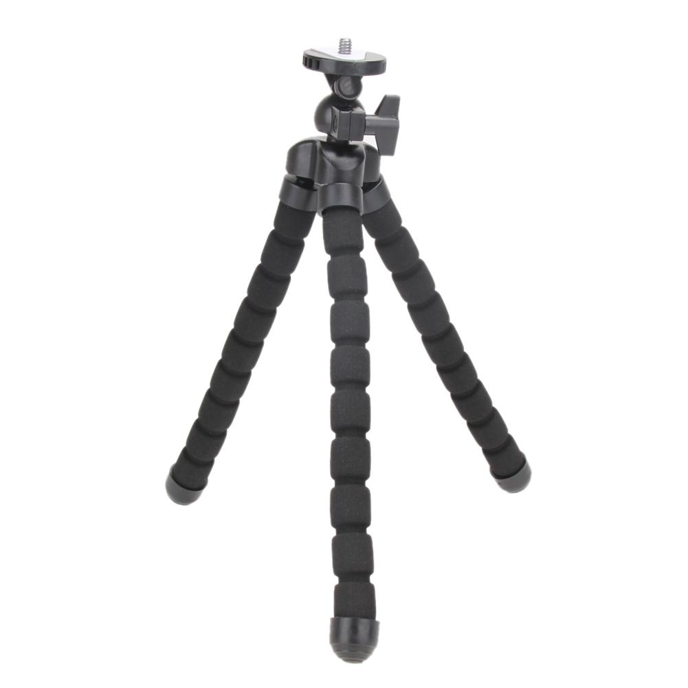 Mini flexibilný fotografický statív čierny až do 1,2 kg