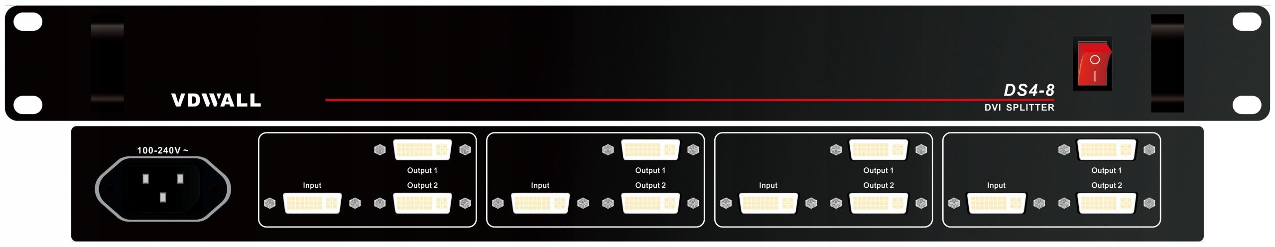 Купить VDWALL DS4-8 Передний Сплиттер DVI x4 1x2 VESA на Otpravka - цены и фото - доставка из Польши и стран Европы в Украину.