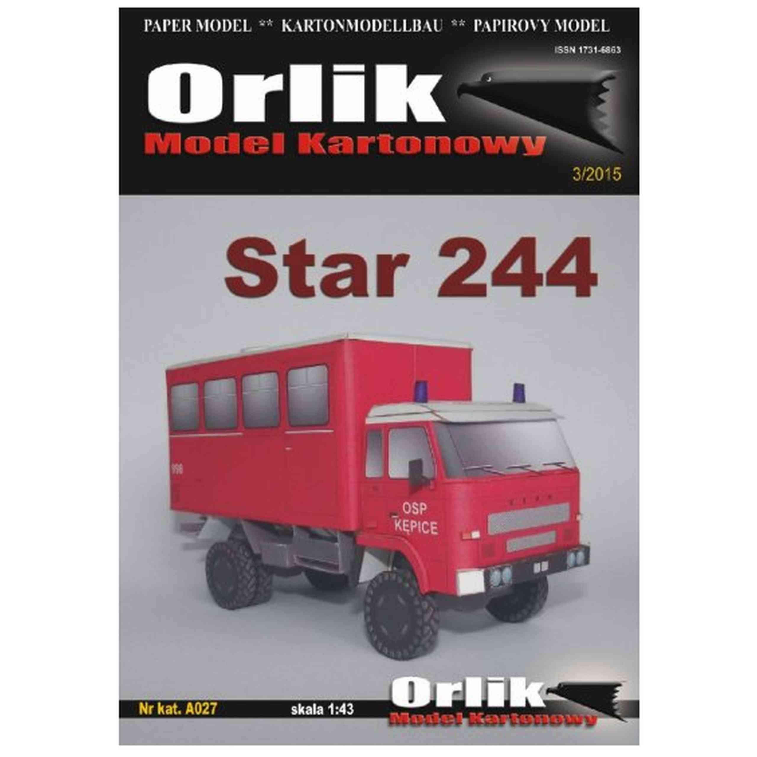 Orlik A027 - Car Star 244 Fire Brigade 1:43