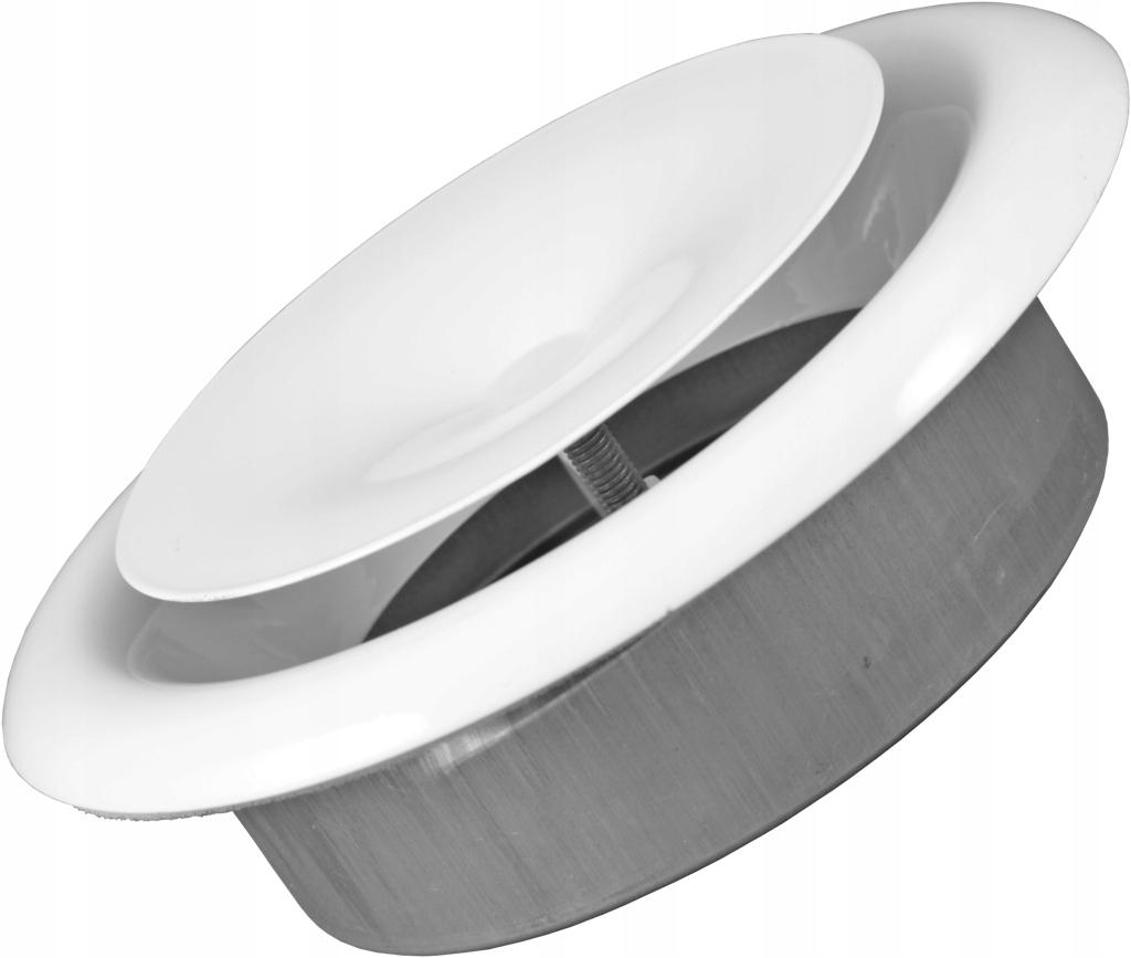 Anemostat nawiewny 125 mm metalowy kratka + ramka
