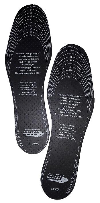 Стельки для ботинок против порки с активированным углем