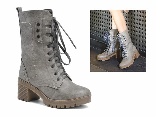BT50 topánky, členkové topánky RETRO glany POSTARZANE grey 36