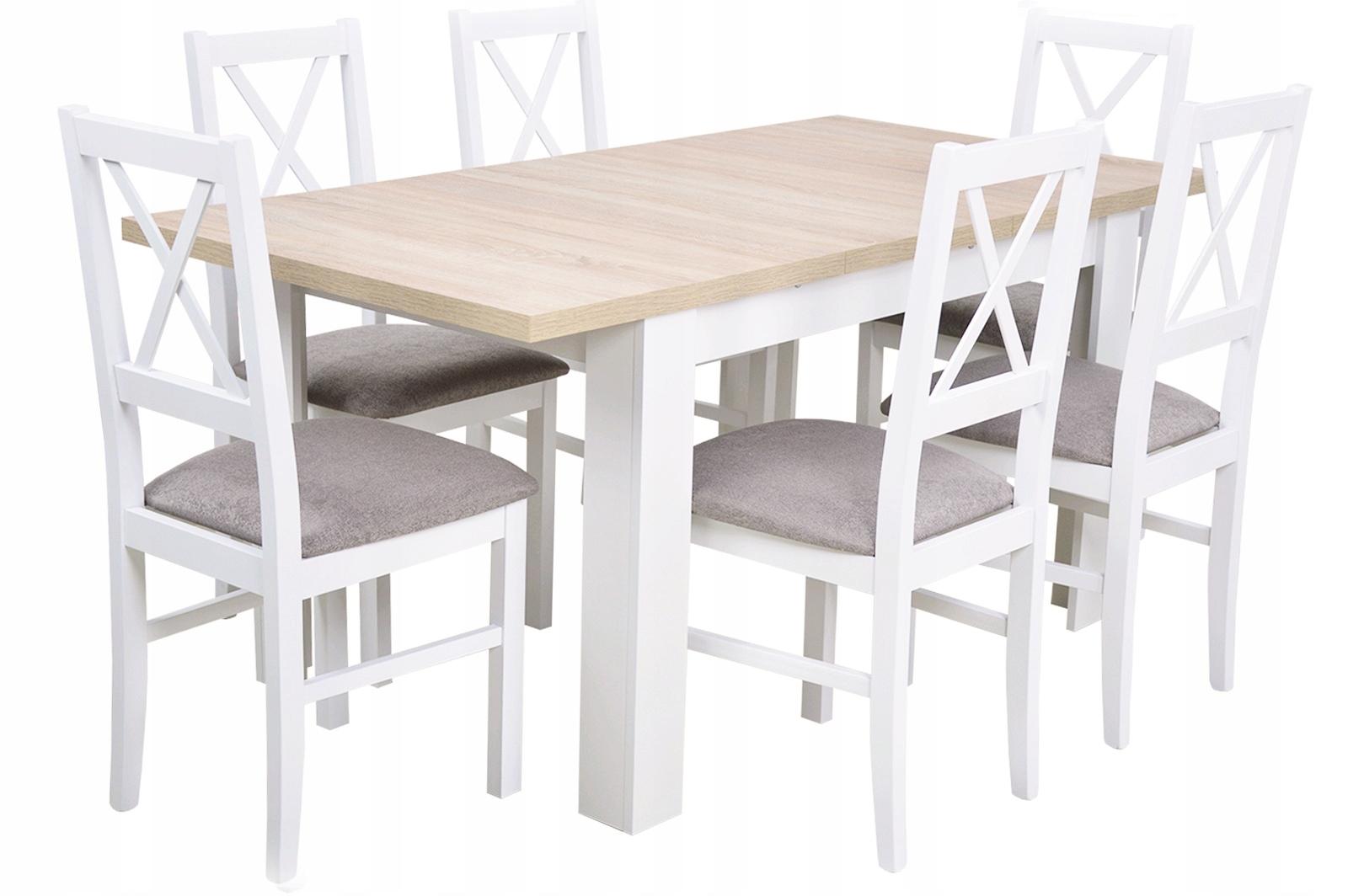 Белый комплект для САЛОН раскладной стол 6 СТУЛЬЯ