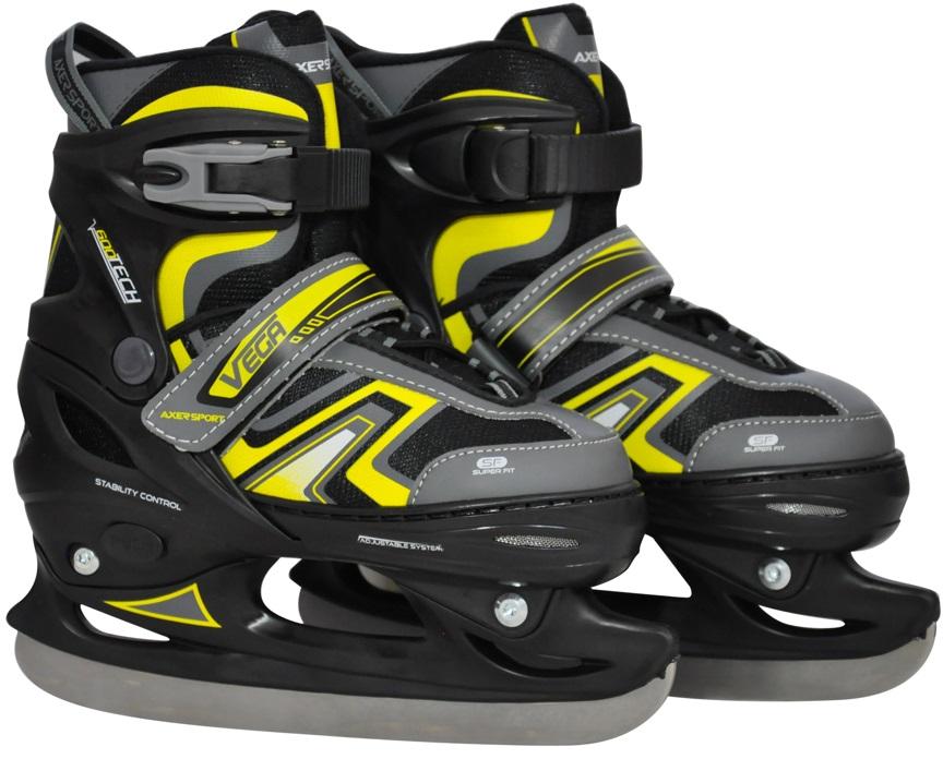 Axer Hockey korčule regulované VEGA 31-34 čierna