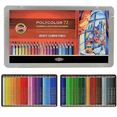 KOH-I-NOOR farebné ceruzky POLYCOLOR 72 počtu 3827 kazety