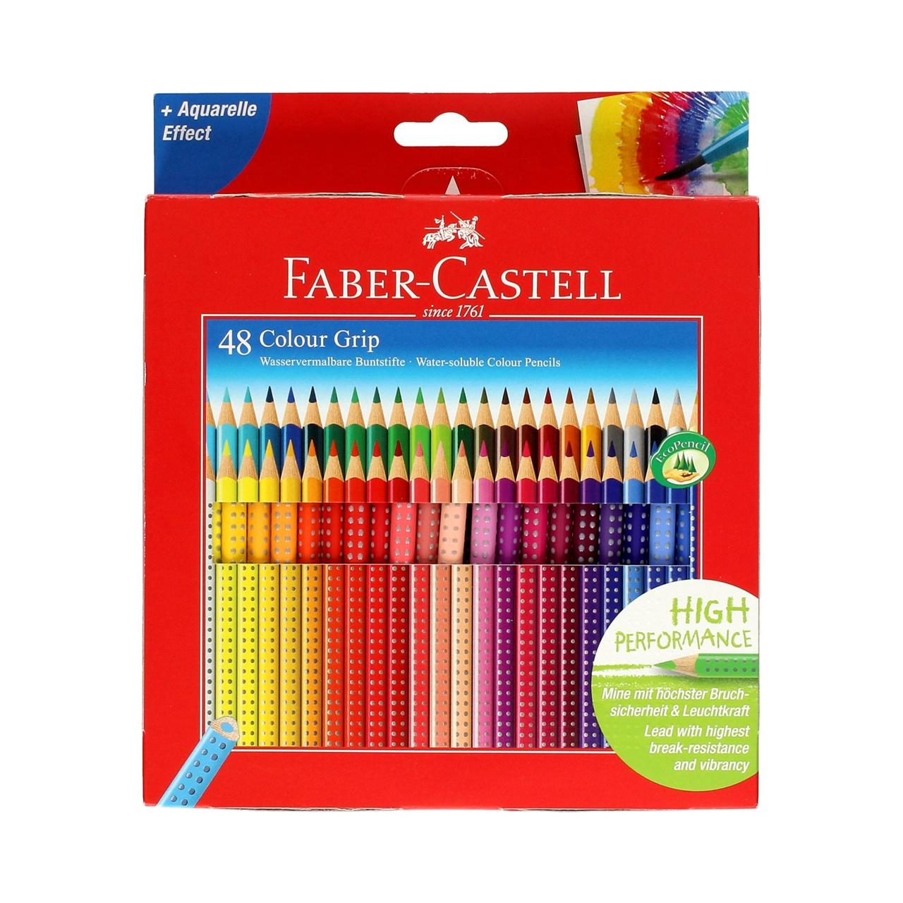 Faber-Castell akvarelové Pastelky GRIP 2001 48 počítať.