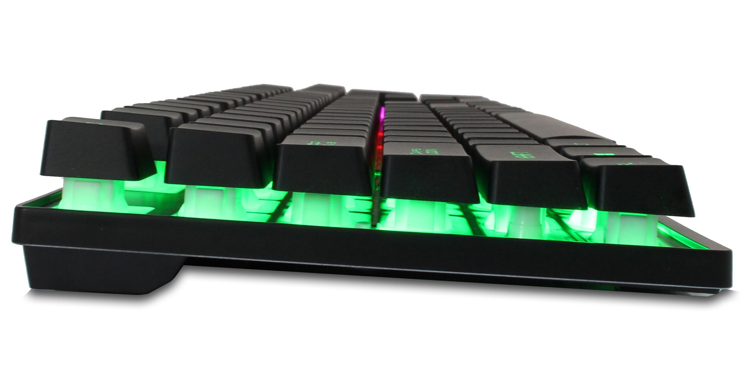 KLAWIATURA PODŚWIETLANA DLA GRACZY GAMINGOWA LED Interfejs USB
