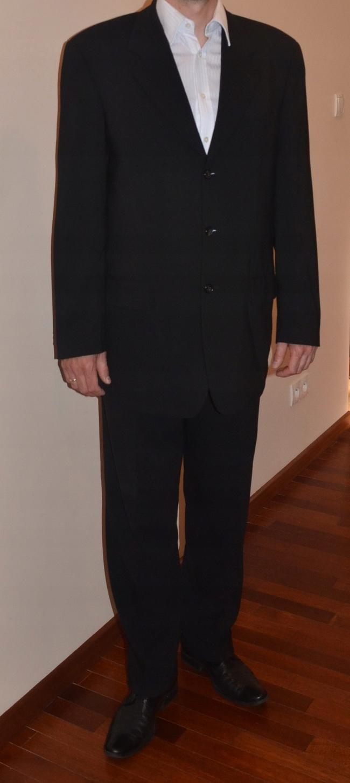 0a73598f828e9 Garnitur męski ślubny wizytowy czarny LANTIER W-wa - 7493644702 ...