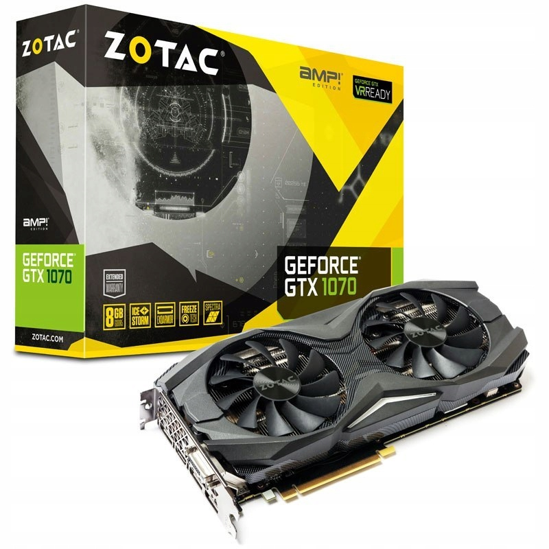 ZOTAC GeForce GTX 1070 AMP Edition, 8192 MB GDDR5 - 7598684492