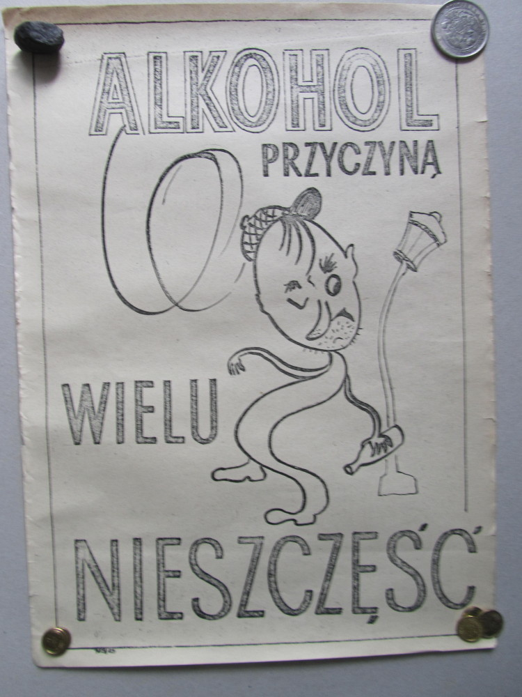 Plakat Antyalkoholowy Alkohol Prl 7377568544 Oficjalne