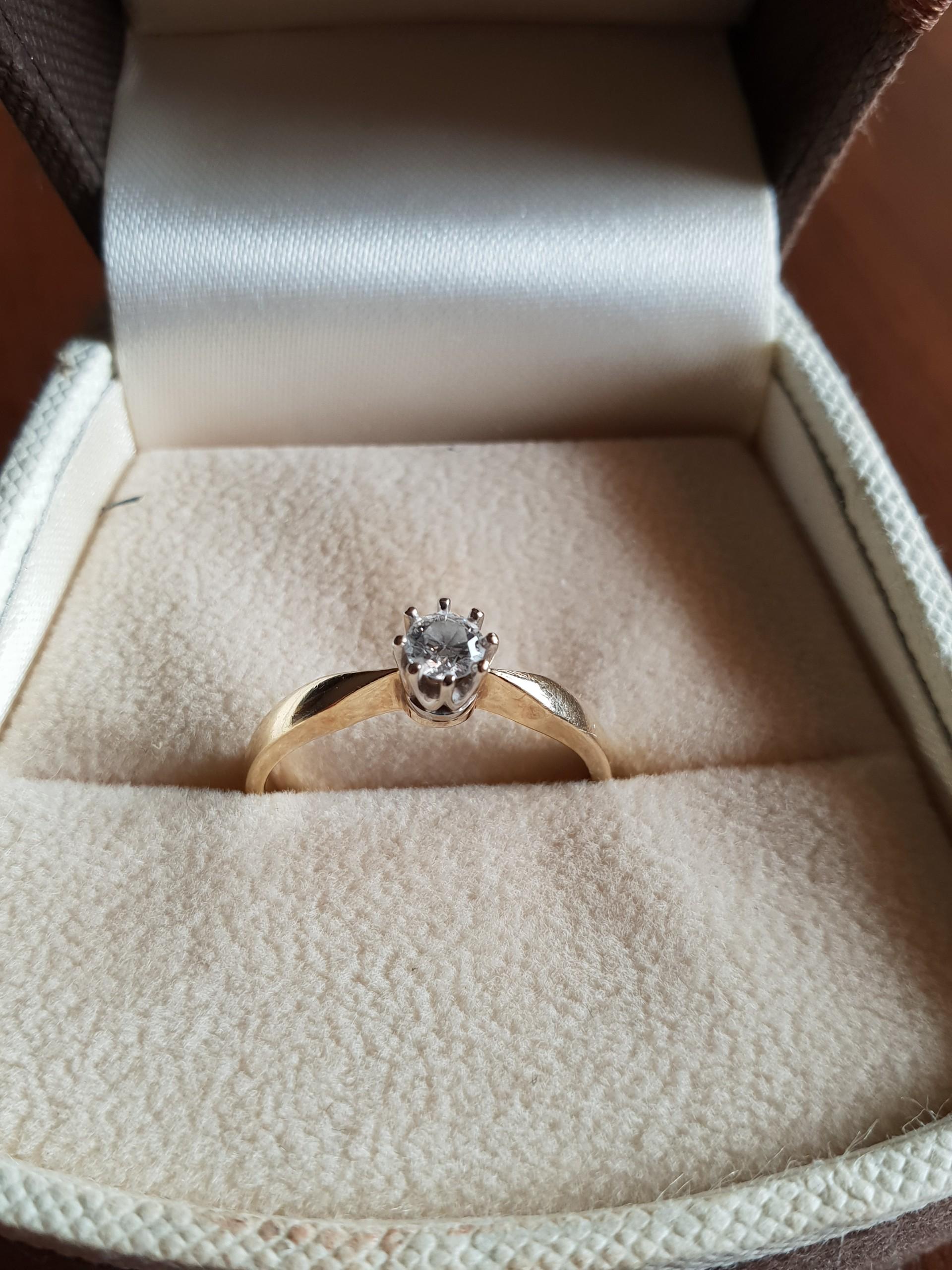 Złoty Pierścionek Zaręczynowy Apart Brylant 020 7432848803
