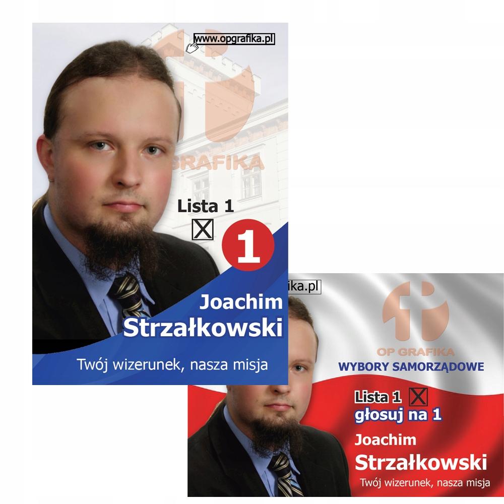 Projekt Plakat Wyborczy Ulotka Wybory Samorządowe