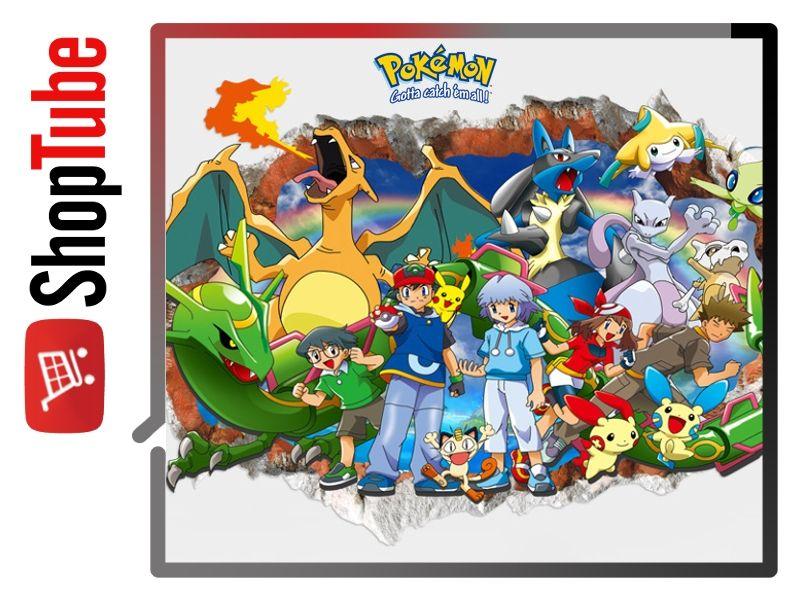 Plakat Naklejka Na ścianę 3d Pokemon Go 50x70cm 6779462899