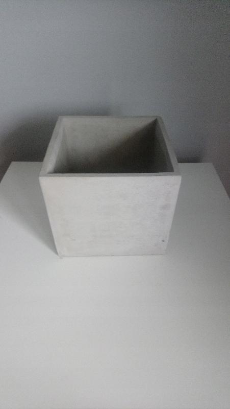 Osłonka Doniczka Sześcian 16x14 Imitacja Beton 7671414511