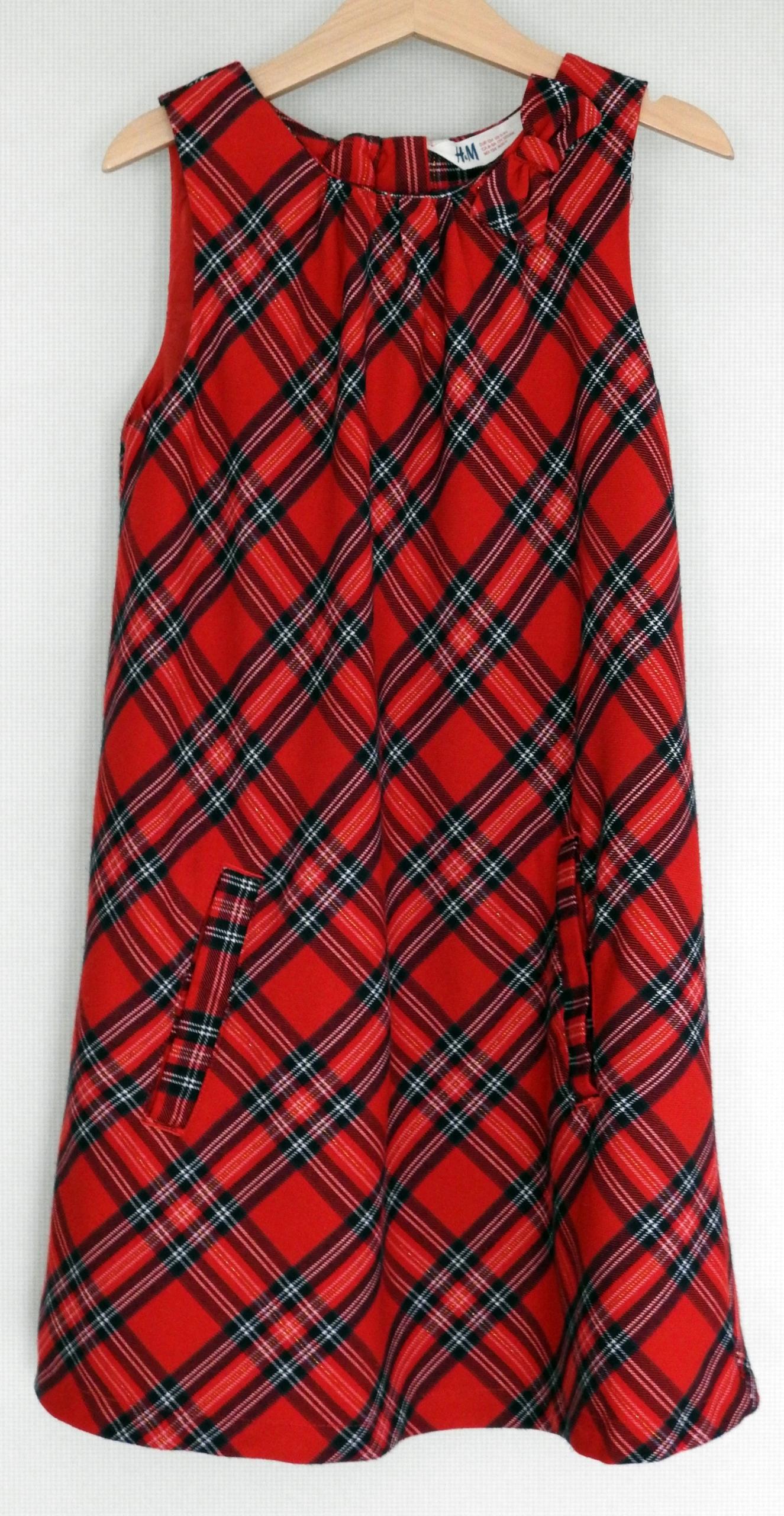 af3bcdc085 H amp M sukienka czerwona w kratę na święta