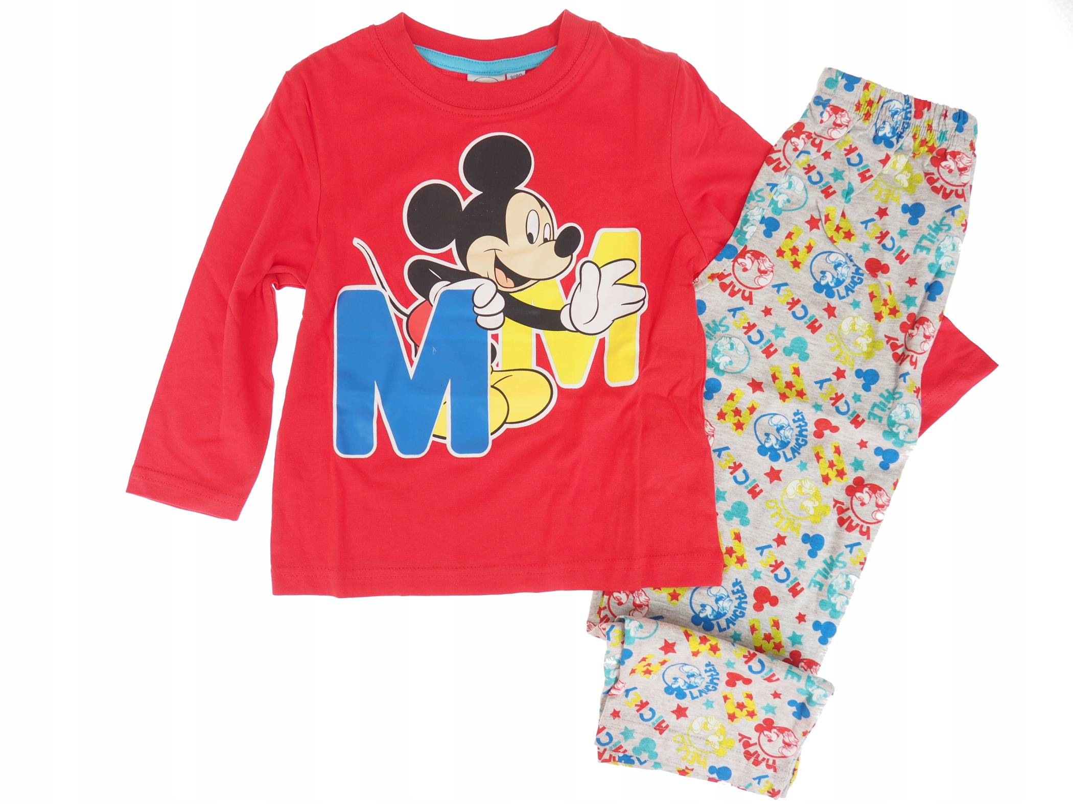 a18ac97416fabe PIŻAMA MYSZKA MICKEY piżamka 3-4 LATA 104 cm - 7502695649 ...