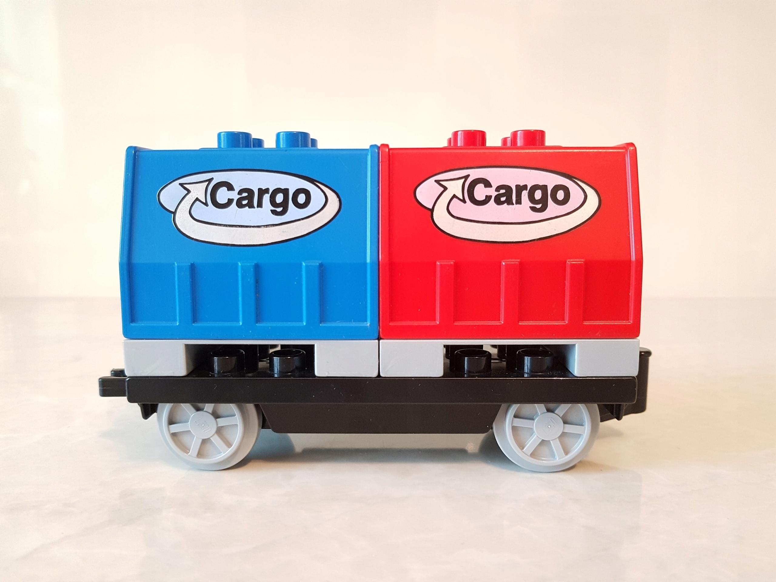 Lego Duplo Wagon Do Pociągu Towarowy Skrzynie 7546999746