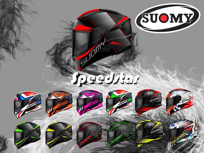 7d2deff2 Kask Motocyklowy SUOMY SPEEDSTAR Rap Red | r. XL - 7316179422 ...
