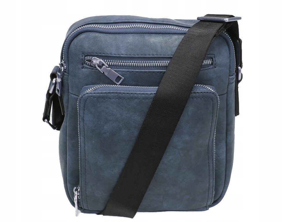 a4aaf15e2795e Niebieska saszetka męska torba elegancka trwała - 7374801732 ...