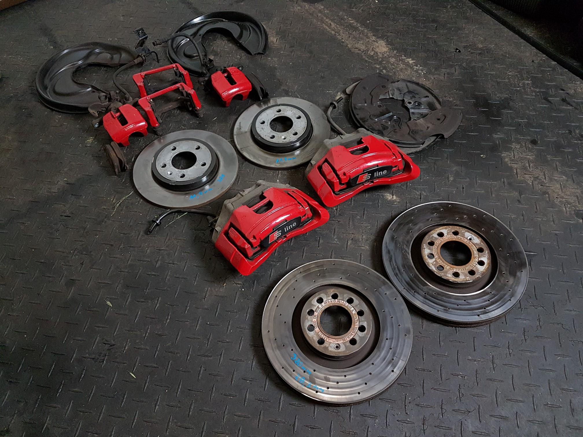 Audi A4 B6 B7 Hamulce Zaciski 320 Przód 288 Tył 6971313642