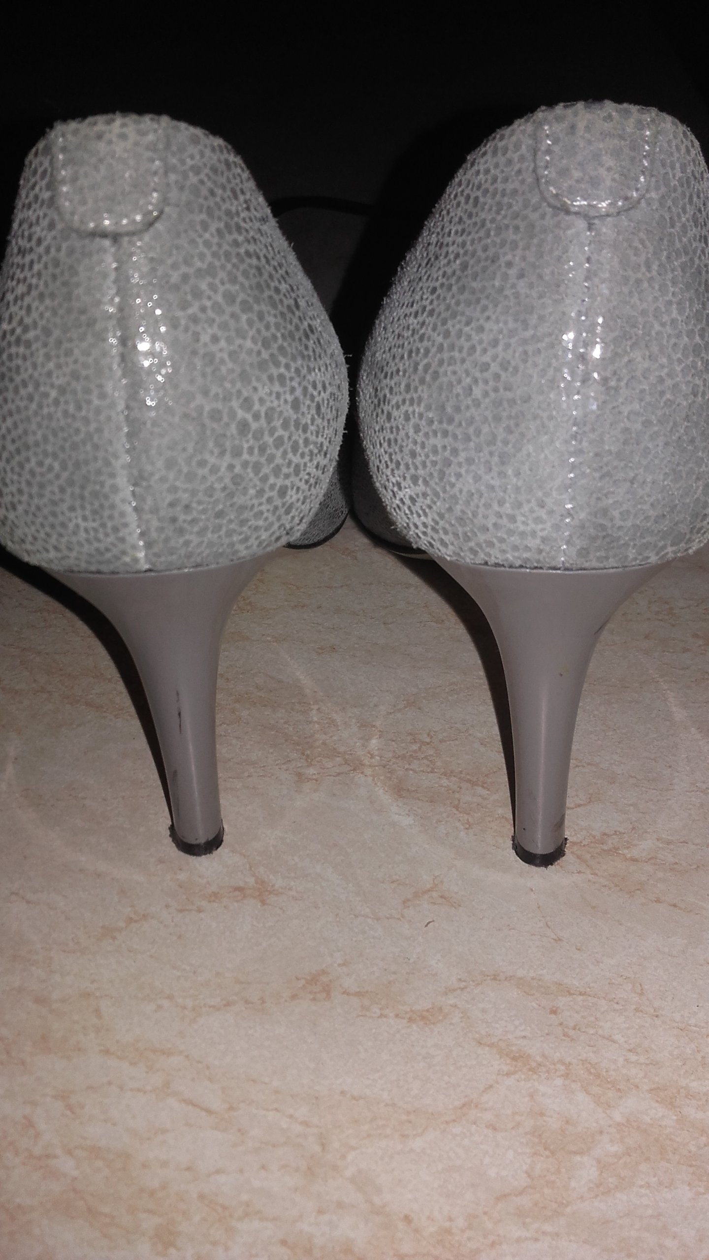 0302beed lasocki szpilka 9 cm szaro-srebrne sliczne skóra - 7150210392 ...
