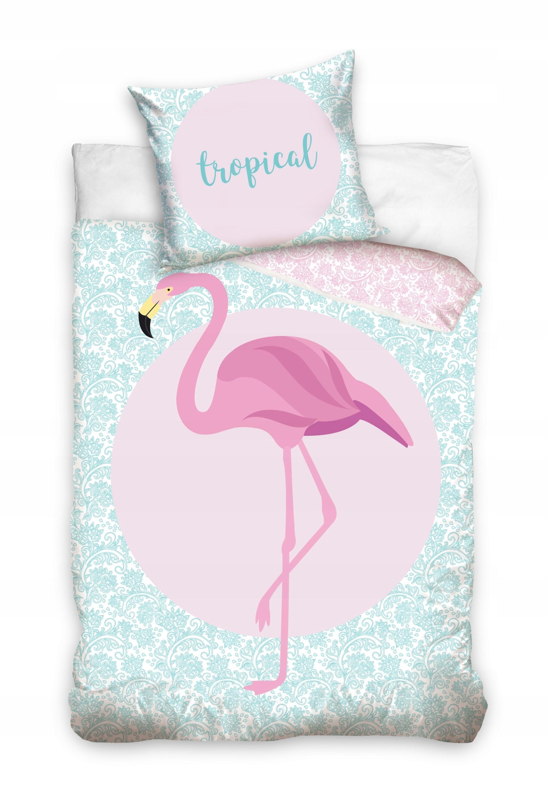 Pościel 140x200 Bawełniana Flaming Flamingi 140 7562659381