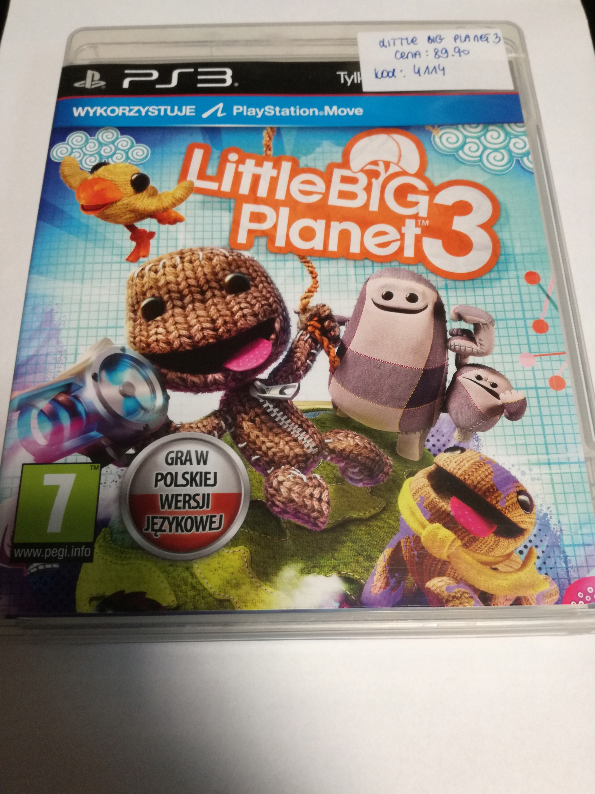 GRA LITTLE BIG PLANET 3 PS3 SKLEP TYCHY