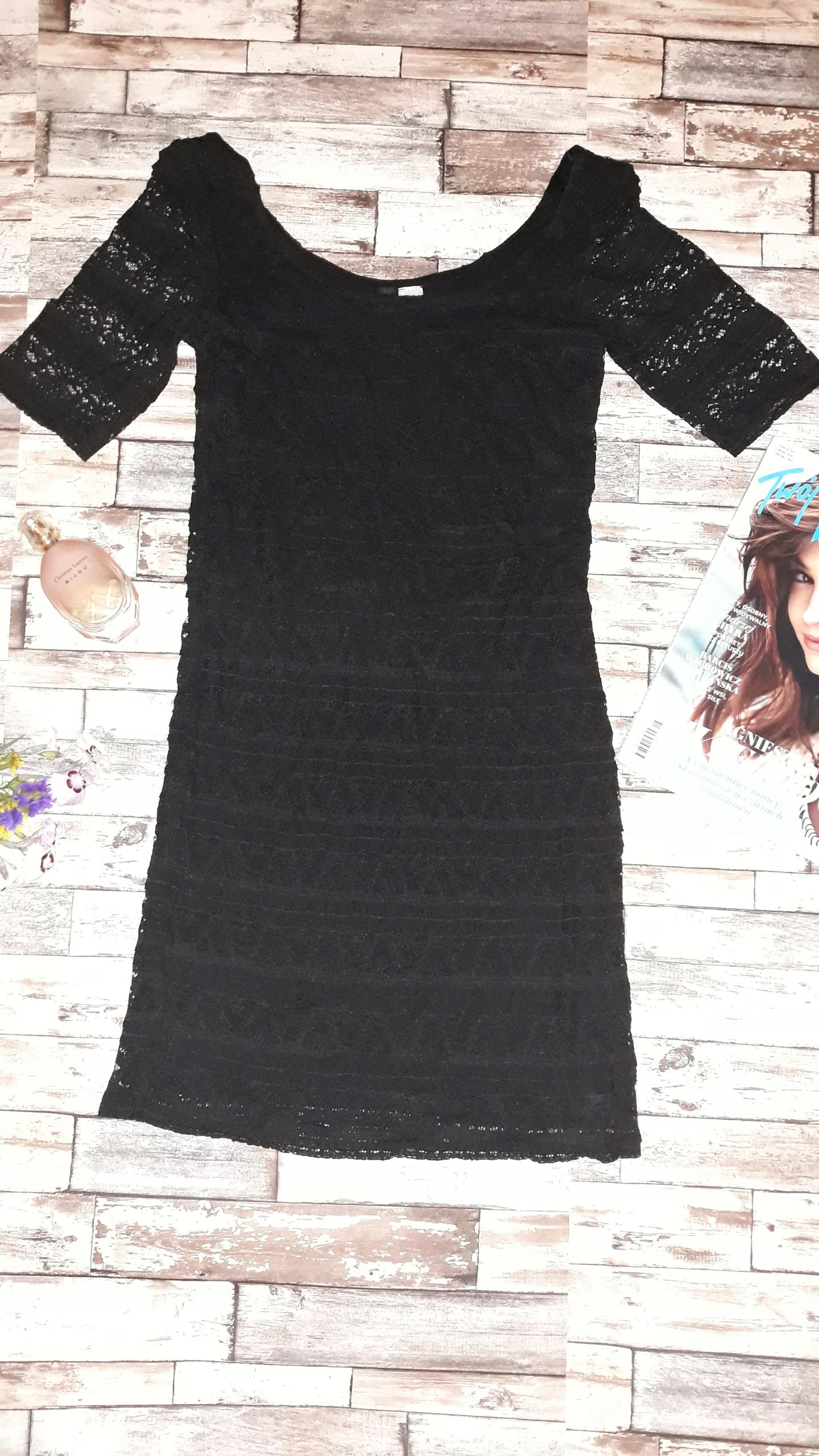 30fc0d6dc7 sukienka na sylwestra H M rozm 34 koronka - 7679654242 - oficjalne ...