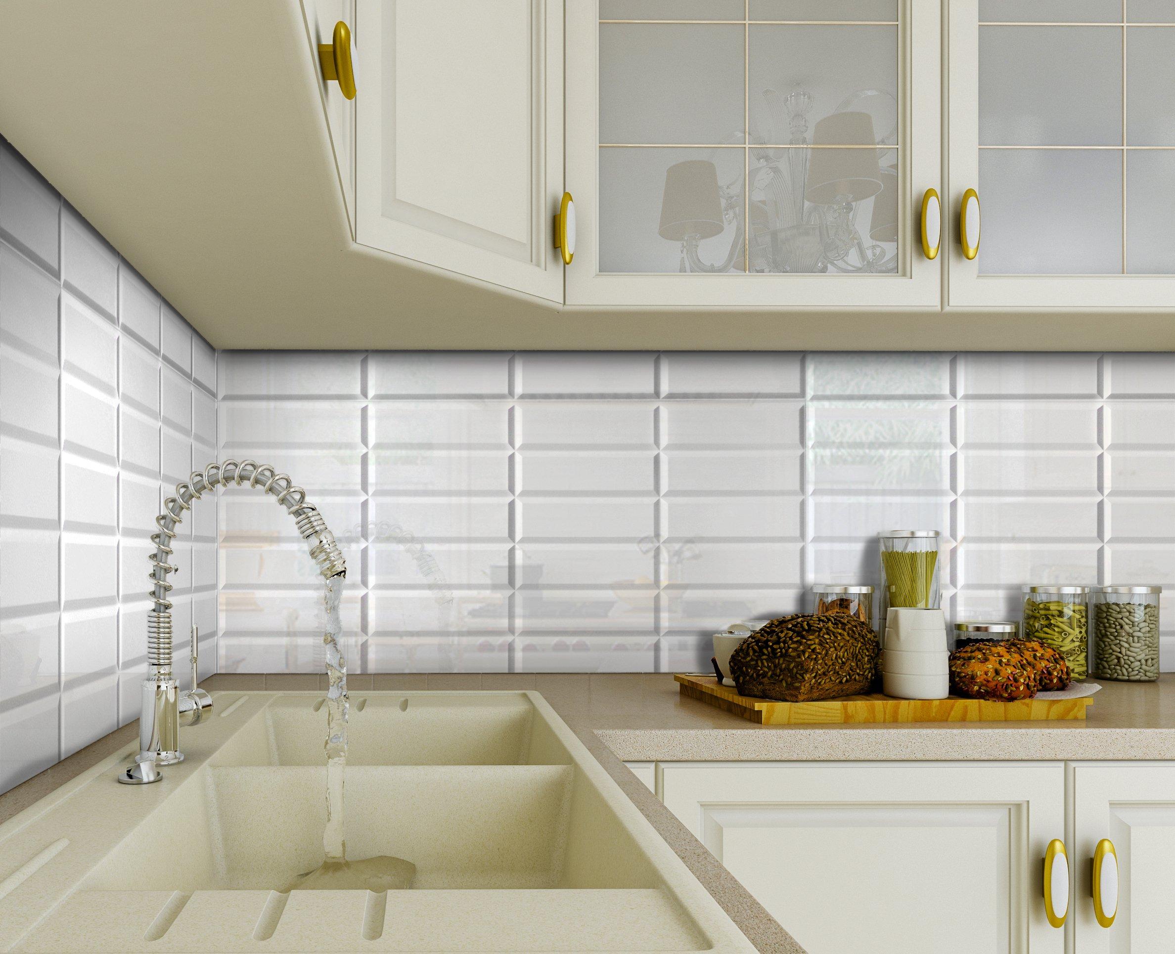Mozaika Panele Scienne 3d Pcv White Seam Kuchnia 7610769706