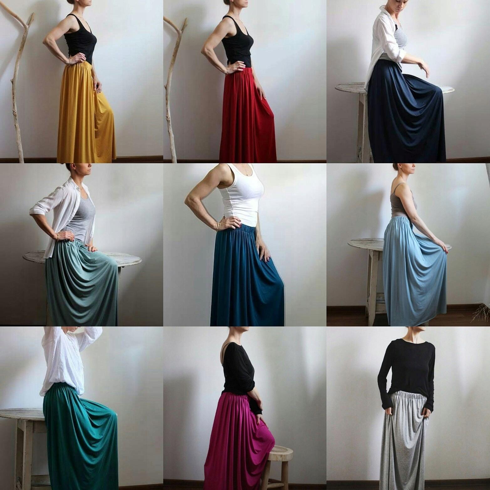 c0abffa9760f82 Długa zwiewna letnia spódnica kolory - 7350047850 - oficjalne ...
